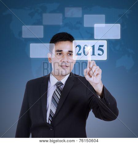 Businessman Using High Tech Screen