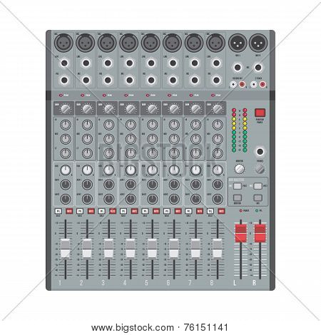 eight channels professional studio sound mixer