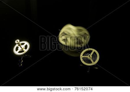 Gear With Motion Blur