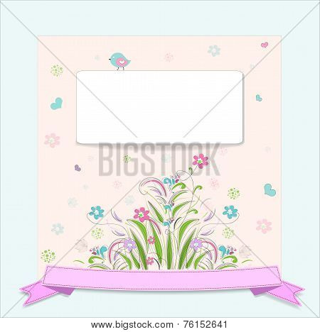 retro flower vertical banners concept
