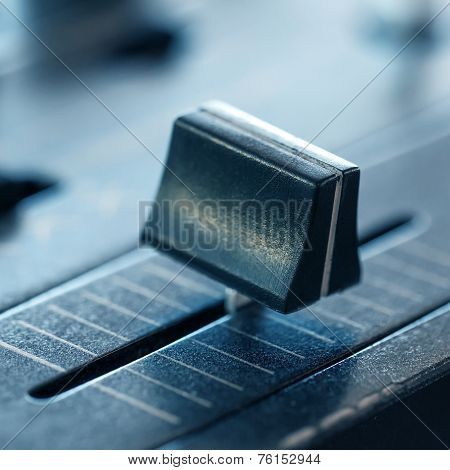 Crossfader On Dj Mixer In Club
