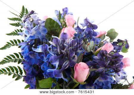 Bouquet In Pink And Blue