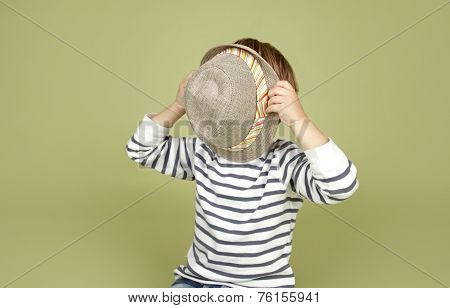 Kids Clothing And Fashion: Child With Fedora Hat
