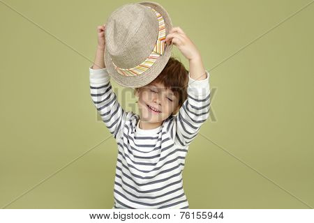 Kids Clothing And Fashion: Expressive Child With Fedora Hat