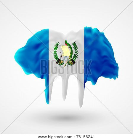 Flag of Guatemala painted colors