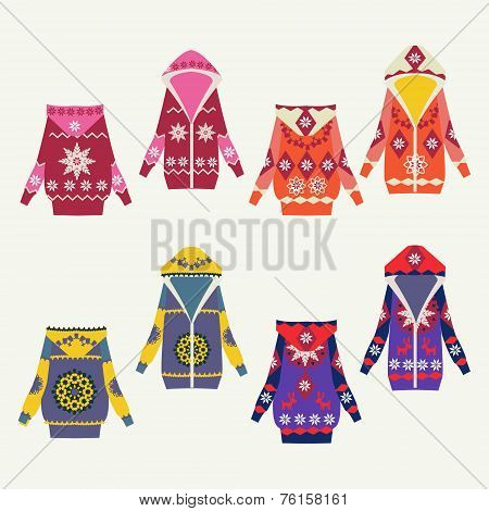 Set Of Female Winter Cardigans
