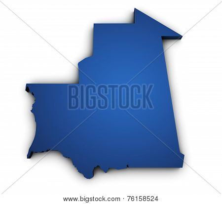 Map Of Mauritania 3D Shape