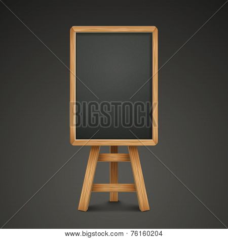 Blank Blackboard Or Sandwich Board