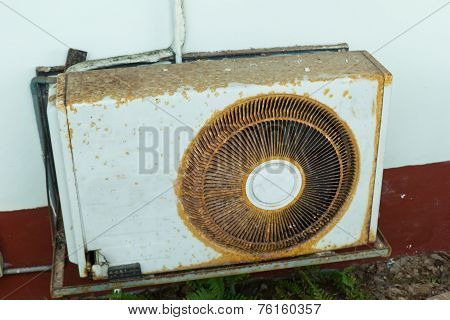 Outdoor Units Of Air Conditioner ,old