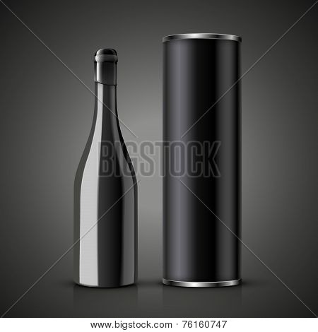 Wine Bottle With Packaging Box