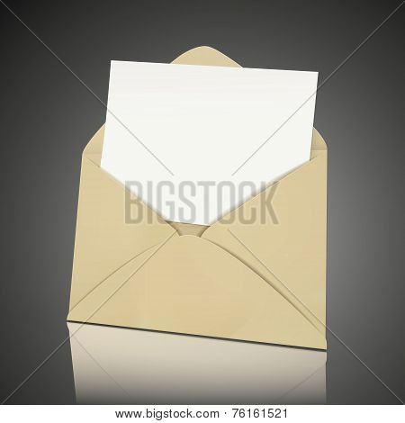 Blank Envelope And Card Template
