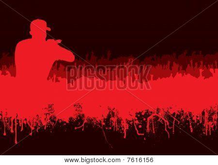 Silhouette Rock Concert Crowd