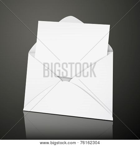 Blank Envelope And Card