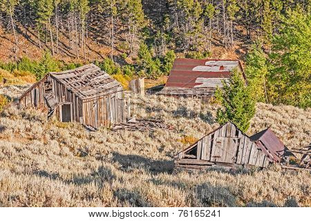Homes, Outhouse, And School