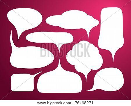 Set of bubble icon