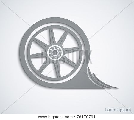 Car wheel. Abstract car sign for your design template or brochur