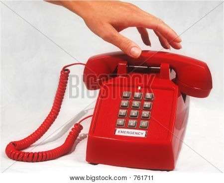 Red Emergency Phone
