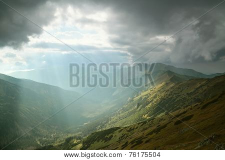 Dark clouds over the Tatras