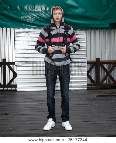 male model in longsleeve