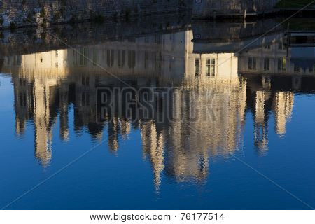 Reflect In The Castle Of Chambord,  Loire Et Cher, Centre Region, France