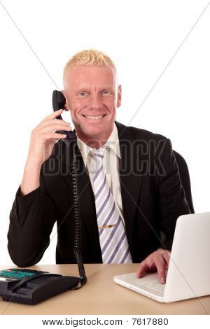Successful Businessman Phone