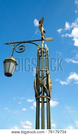 Lantern On Panteleymonovsky Bridge, Saint Petersburg