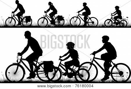 bike - vector silhouettes
