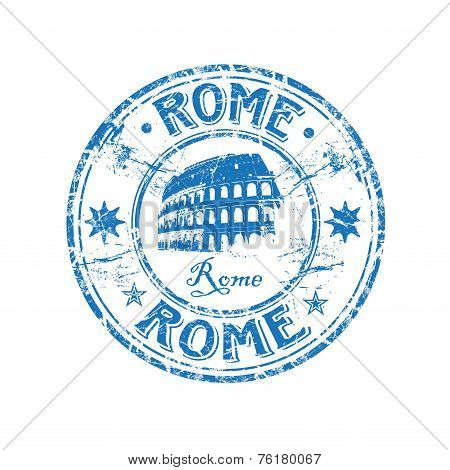 Rome grunge rubber stamp