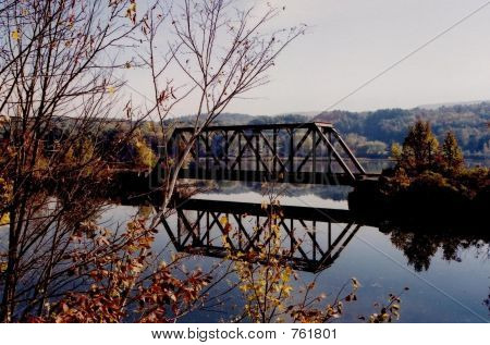train trestle over river