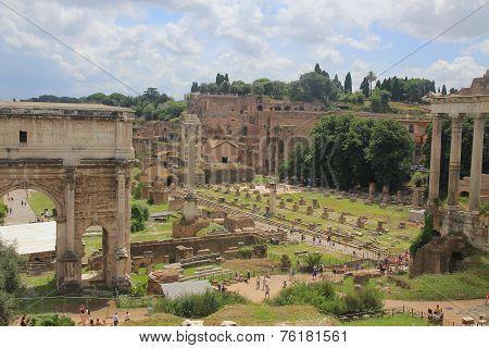Forum Romanum, Roma, Italy. Summer Sunny Day