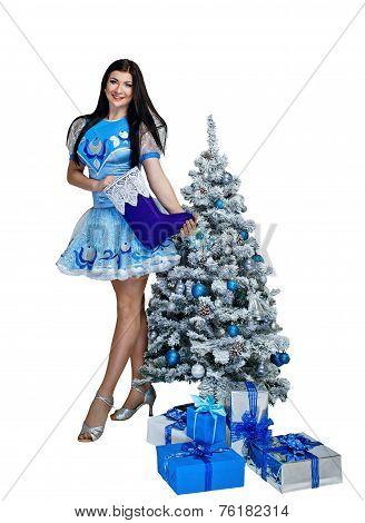 Girl In Christmas Costume