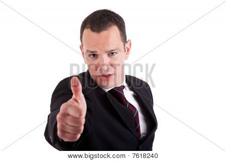 Businessman Giving Consent, With Thumb Up