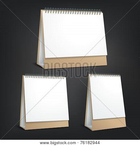 Standing Blank Calendar Set