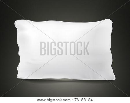 Close Up Look At Blank Pillow