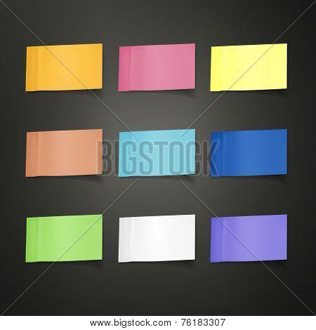 Blank Colorful Sticky Notes Set