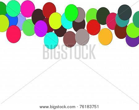White texture, colored balls