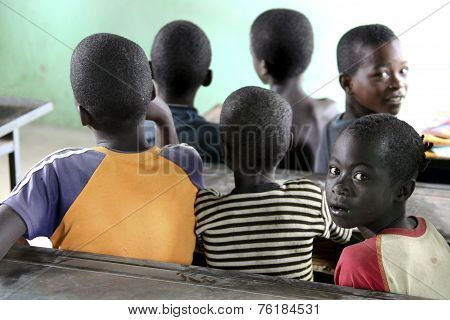 Children Study At Ethiopian School.