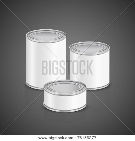 Metal Cans With Blank Label