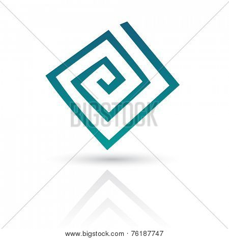 Blue Abstract Icon Illustration isolated on a white background