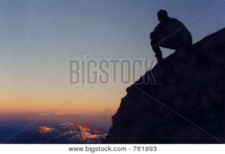 mountain climber shadows
