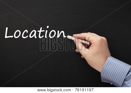 Writing the word Location