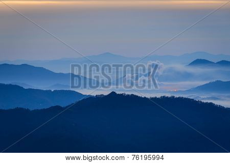 Blue Ridge Mountain Valley Sunrise