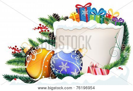 Christmas Presents And Baubles