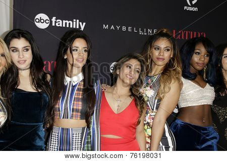 LOS ANGELES - NOV 13:  Fifth Harmony at the Latina Magazine's '30 Under 30' Party at the Mondrian Hotel on November 13, 2014 in West Hollywood, CA