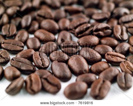 Coffee Beans Filling The Frame As A Background