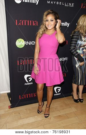 LOS ANGELES - NOV 13:  Adrienne Bailon at the Latina Magazine's '30 Under 30' Party at the Mondrian Hotel on November 13, 2014 in West Hollywood, CA