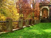 image of yellow castle  - Colors of autumn - JPG