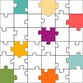 image of puzzle  - Seamless color puzzles background - JPG