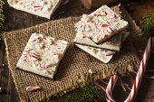 image of white bark  - Homemade Holiday Peppermint Bark with White and Dark Chocolate - JPG