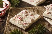 image of peppermint  - Homemade Holiday Peppermint Bark with White and Dark Chocolate - JPG